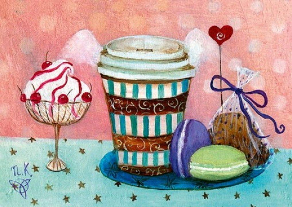 Надписью, картинки сладости на открытку